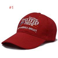 Donald Trump 2020 Cap Keep America Grande campagne américaine de baseball Chapeau de camionneur Casquette réglable