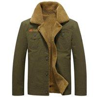Kış Sıcak ceketler Kalın Fleece Erkekler Coats Casual Pamuk Kürk Yaka Erkek Askeri Taktik Parka Dış Giyim