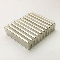 10шт Магнитные материалы Блок 30x8x2mm N48 Супер Стронг Мощный неодимовый магнит кубом Блок Магнит редкоземельные магниты из неодима Craft