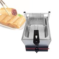 IRISLEE Commercial Deep Fryer Machine Electric Dual Deep Fryer Oven Stainless Steel Oil Fryer with Thermostat Baskets