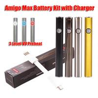 Nuovi Max batteria 380mAh Preriscaldare 10500 VV 510 Discussione inferiore di carica della batteria Vape con il micro USB Charger Fit Amigo 510 Cartridge
