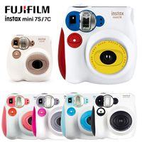 Yeni Renkli Fuji Instax Mini 7C 7 S Anında Kamera Mini Film Fotoğraf Baskı Anlık Görüntü Çekim Polaroid Kamera Doğum Günü