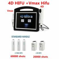 2in1 3D 4D Hifu Machine + VMAX .Hifu 12 линий высокой интенсивности сфокусированные Ультразвуковое лицо подтягивание морщин Удаление морщин кожу Снижение SMAS тело для похудения