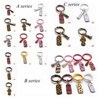 17 styles Neoprene Lipstick Holders Keychain Lip Cover Handbag Keychain Suncreen PU Bracelet Leopard Chapstick Holder YYA449 60pcs