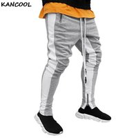 Adisputent Mode Hommes Pantalons joggeurs fitness Casual Long Pants Men Workout Skinny Sweatpants Pantalon en coton Jogger Survêtement