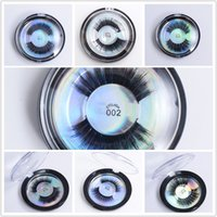 Mink cílios 3d proteína de seda vison cílios postiços macios macios grossos grossos cílios falsos olho cílios 28 estilos cílios com caixa redonda