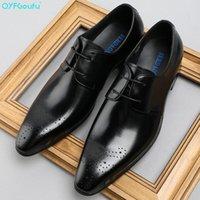 QYFCIOUFU neue Art und Weise Marken-Kleid-Schuh-echter Lederkombi Herren Schuhe Klassische Herren-Luxus-Geschäft-formaler Spitzschuh