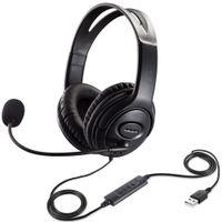노트북 PC 스카이프 Office 용 마이크 스테레오 음악 게이머 이어폰과 USB 게임 헤드셋 조정 유선 컴퓨터 헤드폰