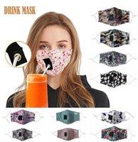 Nouveau visage Masques Coton adulte extérieur Anti Pollution Masque Brouillard bouche paille réutilisable Lavable de protection anti-poussière Visage Couverture