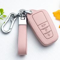 ключевой мешок для Toyota Corolla Camry RAV4 CHR горец кожаного Smart Remote ключа крышка случая Holder