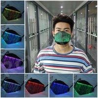 Máscara de Halloween 7 colores luminosos LED que brilla intensamente Cambio Máscara facial de las máscaras del festival fiesta de Navidad de la mascarada del delirio para niños