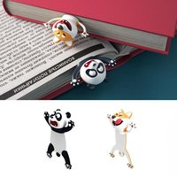 Bookmark 3D Stereo-Lesezeichen, Cartoon-Neuheit Tier Original Nette PVC-Party-Gefälligkeiten Geburtstag Studenten Jugendliche Geschenk zum Lesen