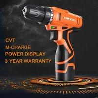 LOMVUM 12V double vitesse perceuse électrique rechargeable sans fil Mini Handheld Drill Tournevis