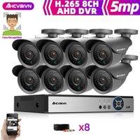 أنظمة HD 5MP CCTV كاميرا نظام الأمن كيت AHD كاميرات في الهواء الطلق الأشعة تحت الحمراء المراقبة الفيديو 8CH DVR مجموعة