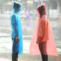 Einmaliger Wasserdichter Regenmantel Regenwarenmantel Verdicken Poncho Einweg Notfall Großhandel PP Regenmäntel Reisen DH0474 Einweg-DBC Rain qaep