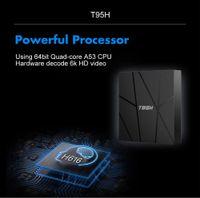 T95H الروبوت 10.0 صندوق التلفزيون الذكي Allwinner H616 4GB RAM 32GB 64GB ROM 2.4G المزدوج واي فاي 6K
