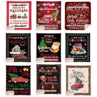 عيد الميلاد بطانية 130 * 150 سنتيمتر تصميم عيد الميلاد الطباعة الرقمية بطانية المرجان الصوف طبقات مزدوجة لحاف مرح عيد الميلاد أريكة رمي بطانية OOA9015