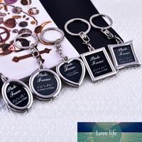1 pc mini kreativ metall legering infoga foto bildram nyckelring llaveros keychain gåva 6 stilar