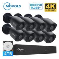 أنظمة خروج 8CH 4K Ultra HD فيديو مراقبة الأمن نظام مراقبة H.265 + CCTV عدة 8MP DVR في الهواء الطلق الرئيسية للماء كاميرا