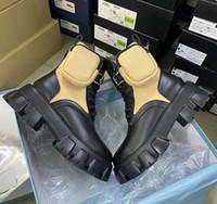 2020 Australia di cuoio Martin Stivali Donne Rois Boots Booties Cowskin Nylon Winter Snow con scarpe rimovibile Pouch Black Ladies all'aperto