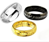 2020new Ladys Ring Magic Letter The Lord of One Ring Black Silver Gold Titanium roestvrijstalen ring voor mannen Dames Senhor Dos Aneis