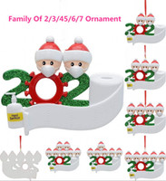 EEUU Stock 2020 Cuarentena de la decoración de la fiesta de la Navidad de la cuarentena Producto de regalo personalizado de 2 3 4 5 6 7 Adorno Pandemic Social Distancia