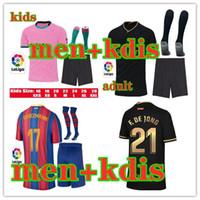 20 21 men and kids soccer jersey kits maillots de foot 2020 2021 children camiseta de fútbol maillot de foot football shirt