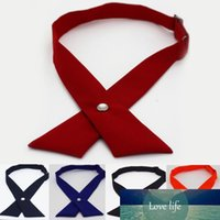 Fashion Unisex Cross Bowknot Tie Creative Woman Personality ...