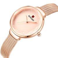 High-End-Fabrik-Verkauf Frauen koreanische-Art-Art- und kleine frische Uhr-wasserdichte Micro-Geschäft Beliebte Online Red Damenuhr