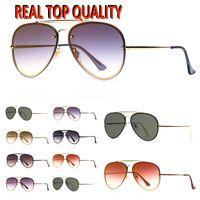 Mens moda óculos de sol blaze piloto óculos de sol mulheres óculos de sol óculos des lunettes de soleil com estojo de couro de alta qualidade