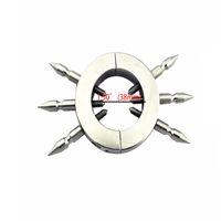 Bola del anillo anillo de pene de Spike martillo del anillo del testículo en el escroto colgante Camilla Fetish Sex Toys Acero Inoxidable XCXA197