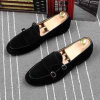 CuddlyIIPanda 2020 Spring Summer Casual Shoes Men Metal Buckles Soft Leather Loafers Hasp Moccasins Hombres Men Fashion Sneakers