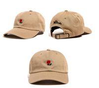 THE قبعات مئات الكرة للجنسين روز مطرز سنببك الرجال والنساء قبعات البيسبول 8 ألوان الموضة لعبة غولف قبعة قبعات قابل للتعديل
