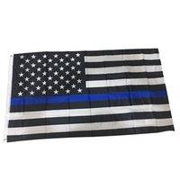 3x5Fts poliestere bandiere USA 90x150cm Blu Bianco Stati Uniti stelle strisce degli Stati Uniti americano bandiere America Black battenti bandiera VT1457