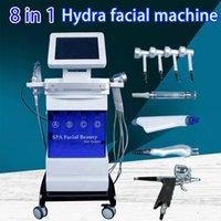 8 en 1 Piel Hydro dermoabrasión agua rejuvenecimiento de Lucha contra el envejecimiento del diamante del micro dermoabrasión Hydro Peeling facial de limpieza profunda de la máquina