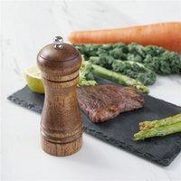 Madeira de sal e de pimenta do moinho moedor de pimenta Saleiro com ajustável cerâmica Rotor frete grátis por Oceano
