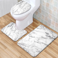 Marble Pattern и занавески для душа комплект ванны коврике 3шт коврик для ванной Комплект Антипробуксовочная Ковер Коврик для ванной Alfombra Ducha Antideslizante Hot