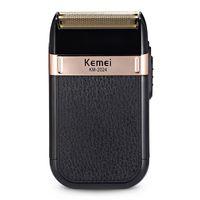 Kemei электробритва USB аккумуляторная для мужчин Твин лезвия Поршневые Аккумуляторный Бритва волос Борода Бритье MachineBarber триммер