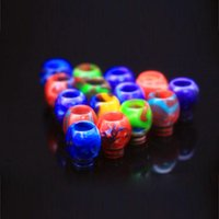 Round 510 Drip Tips Tip Resin Epoxy Mouthpiece Wire Bore Suck for TFV12 Prince TFV8 X Big Baby Crown Atomizer