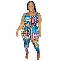 Kadınlar Giyim 2020 Kadın Tasarımcı eşofman Yaz Kolsuz Mürettebat Boyun Tişört Uzun Pantolon 2PCS Setleri Artı boyutu