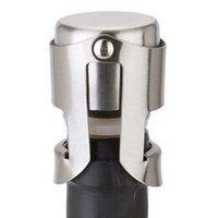 الفولاذ المقاوم للصدأ النبيذ سدادات فراغ النبيذ يختم زجاجة سدادات التوصيل الضغط نوع الشمبانيا كاب غطاء التخزين بار أدوات HHA1517