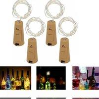 1m 10LED 2M 20LED STEAME Lampe Korkförmige Flasche Stopfen Halt Glas Wein LED Kupfer Draht String Lichter für Weihnachten Party Hochzeit Dekor