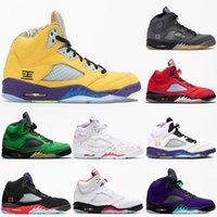nike air jordan retro 5 5s off white Hot Selling 2020 o que o 5 5s New JUMPMAN Mens BRANCO OFF Preto Muslin Sala de Troféus tênis de basquete Sneakers Designer Alternate Grape V