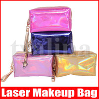 6 Colors Laser Makeup Cosmetic Bag letter Hologram Cosmetic Bag Make Up Bags Large Capacity Storage Waterproof Wash Tolitery Bag