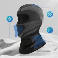 Unisex invierno Cycling Cap bicicletas Mascarilla Facial del calentador del cuello de la bufanda de esquí de bicicletas Moto Fleece cabeza sombrero de invierno