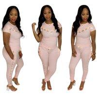 Confortevole Set di abbigliamento di moda Sportivo Casual Tute Paillettes Panelled Donna Estate sottile del vestito donne 2pcs Designer