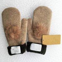 НОВЫЙ БРЕНД 2020 Зимние варежки Kintted перчатки Женские Толстые теплые милые перчатки меховые перчатки из шерсти 8 цветов для выбора мастерить высокого качества