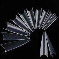 Yanlış Çiviler 100 Çanta Sahte Tırnak İpuçları 500 adet Uzun Stiletto Temizle Nokta
