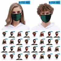Máscara de la manera 3D de la tela escocesa de cara para adultos cuentos para niños a prueba de polvo de seda del hielo de la boca de la máscara a prueba de viento reutilizable lavable de protección CYZ2613 Máscara diseñador