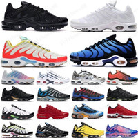TN Plus-Herren Laufschuhe Rosa Sea Triple Black White Red Voltage Lila USA Lemon Lime Bumblebee Be True Trainer Sport-Turnschuhe